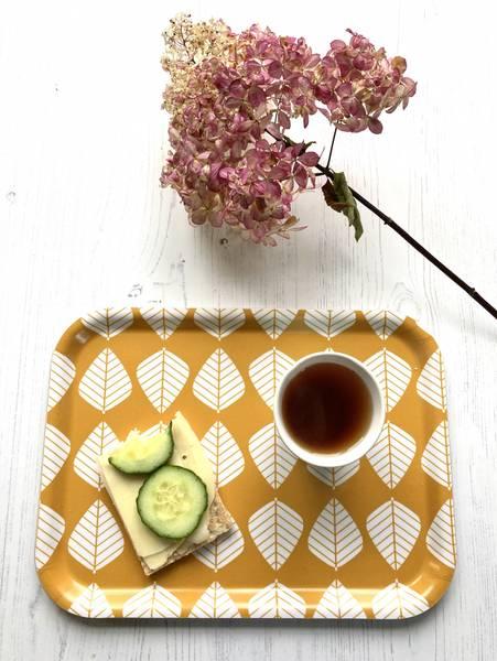 Spisebrett LØV - gul
